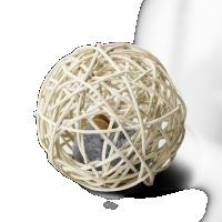 Katzenspielzeug Weidenball mit Soundclip und Maus